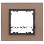 Изображение 82817-34 Рамка на 1 пост медь-графит (стекло) Simon