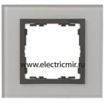 Изображение 82817-35 Рамка на 1 пост серый-графит (стекло) Simon