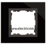 Изображение 82817-32 Рамка на 1 пост черный-графит (стекло) Simon