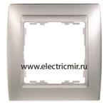Изображение 82914-33 Рамка 1 пост алюминий матовый-алюминий Simon