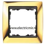 Изображение 82814-66 Рамка 1 пост золото-графит Simon