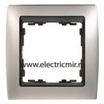 Изображение 82814-33 Рамка 1 пост алюминий матовый-графит Simon