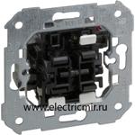 Изображение 75301-39 Выключатель проходной + клавишная кнопка, механизм, 10А 250В, Simon 82, 82N, 88