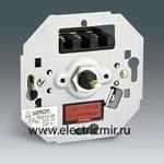 Изображение 75318-39 Регулятор напряжения поворотно - нажимной с подсветкой, переключатель, механизм, 40-300Вт 230В, Simon 27, 82, 82N, 88