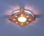 Изображение Встраиваемый светильник со светодиодами 1051 бронза / белая подсветка (SB/WH/Led)