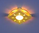 Изображение Встраиваемый светильник со светодиодами 1051 золото / белая подсветка (GD/WH/Led)