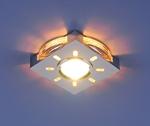 Изображение Встраиваемый светильник со светодиодами 1051 хром / белая подсветка (CH/WH/Led)