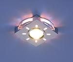 Изображение Встраиваемый светильник со светодиодами 1051 хром / синяя подсветка (CH/BL/Led)