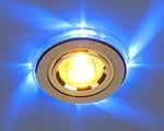 Изображение Встраиваемый светильник с синей подсветкой для подвесных, реечных, натяжных потолков 2060/2 GD/LED/BL (золото / синий)