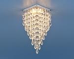 Изображение Встраиваемый потолочный светильник 2010 хром/прозрачный (CH/Clear)