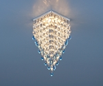 Изображение Встраиваемый потолочный светильник 2010 хром/прозрачный/голубой (СH/Clear/BL)