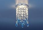 Изображение Встраиваемый потолочный светильник 2012 хром/прозрачный/голубой (CH/Сlear/BL)