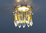 Изображение Встраиваемый потолочный светильник 2021 золото/прозрачный/голубой (FGD/Clear/BL)