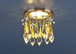 Изображение Встраиваемый потолочный светильник 2021 золото/тонированный/голубой (FGD/GC/BL)
