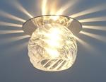 Изображение Стеклянный точечный светильник 8103 CH/CLEAR (хром / прозрачный)