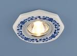 Изображение Керамический светильник 9033 WH/BL керамика бело-голубой
