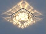 Изображение Встраиваемый потолочный светильник 7276 хром / прозрачный (CH/Clear)