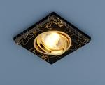 Изображение Точечный светильник квадратный 2080 BK/GD (черный/золото)