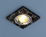Изображение Точечный светильник квадратный 2080 BK/SL (черный/серебро)