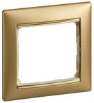 Изображение Рамка 1 пост Матовое золото (770301) Valena