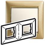Изображение Рамка 2 поста Матовое золото (770302) Valena