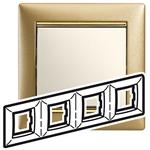 Изображение Рамка 4 поста Матовое золото (770304) Valena