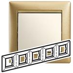 Изображение Рамка 5 постов Матовое золото (770305) Valena