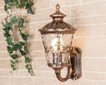 Изображение Diadema U черное золото уличный настенный светильник