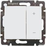 Изображение Светорегулятор нажимной 40-400W для л/н и эл. т-ров (770062) белый Valena