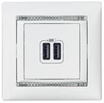 Изображение 2ая розетка USB (770470) белая Valena