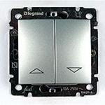 Изображение Выключатель жалюзийный кнопочный Legrand Valena алюминий (770114)
