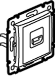 Изображение Розетка HDMI для аудио-видеоустройств (770285) алюминий Valena