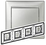 Изображение Рамка 4-я Legrand Valena Алюминий серебро (770354)