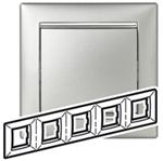 Изображение Рамка 5-я Legrand Valena Алюминий серебро (770355)