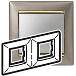 Изображение Рамка 2-я Legrand Valena Титан золото (770362)