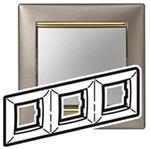 Изображение Рамка 3-я Legrand Valena Титан золото (770363)
