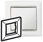 Изображение Рамка 1 пост Белый/Серебряный штрих (770491) Valena