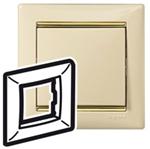 Изображение Рамка 1-я Legrand Valena Слоновая кость золото (774151)