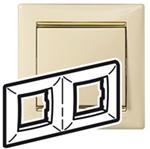 Изображение Рамка 2-я Legrand Valena Слоновая кость золото (774152)