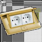 Изображение 54016 Выдвижной блок 4модуля латунь Legrand