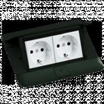 Изображение 54026 Выдвижной блок 4модуля черный Legrand