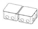 Изображение 54003 Монтажная коробка для выдвижного розеточного блока на 8 (2х4) модуля - металл Legrand