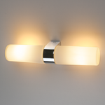 Изображение Влагостойкий настенный светильник Round 2 х 42W хром