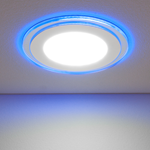 Изображение Встраиваемый потолочный светодиодный светильник DLKR160 12W 4200K синий