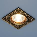 Изображение Точечный светильник 120071 MR16 BK/GD черный/золото