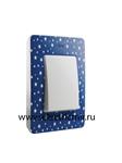 Изображение 8200610-221 Рамка на 1 пост, сине-фиолетовый, звезды, 82 Detail