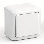 Изображение 782300 Выключатель одноклавишный IP44 10A Белый Quteo
