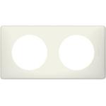 Изображение 66702 Рамка 2 поста Белая перкаль Celiane