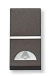 Изображение ABB NIE Zenit Антрацит Выключатель 1-клавишный кнопочный НО-контакт с символом Звонок 1 мод