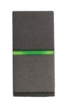 Изображение ABB NIE Zenit Антрацит Выключатель 1-клавишный кнопочный с индикацией НО-контакт 1 мод